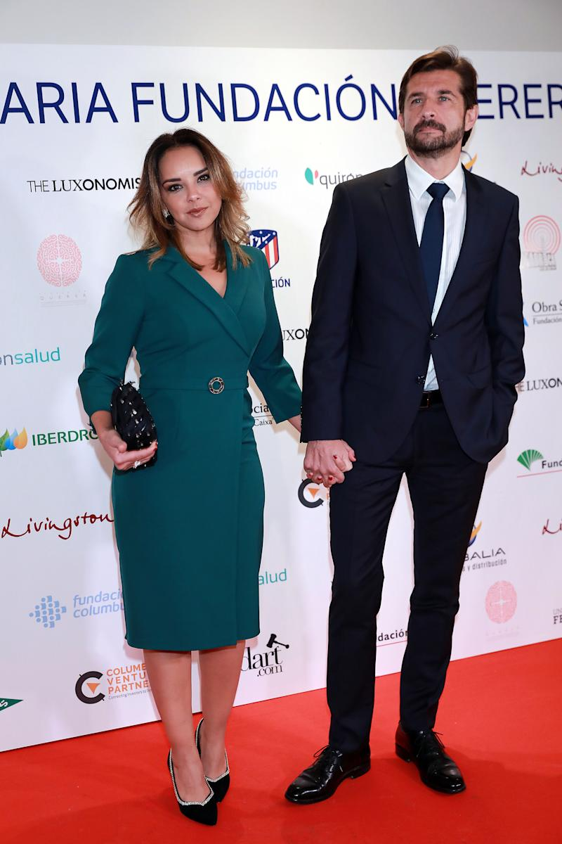 MADRID, SPAIN - NOVEMBER 07: Chenoa and Miguel Sánchez Encinas attend 'Fundacion Querer' solidarity dinner at Hotel Villamagna on November 07, 2019 in Madrid, Spain. (Photo by Europa Press Entertainment/Europa Press via Getty Images)