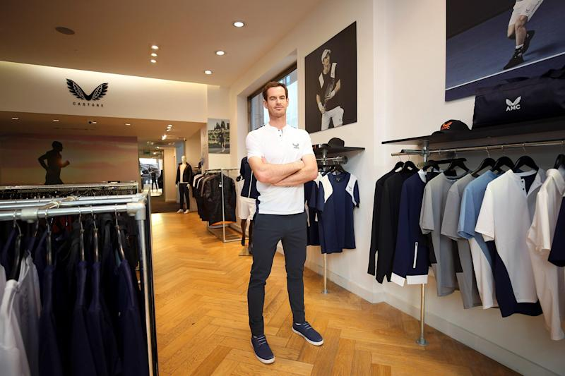 Andy Murray at the launch of AMC: Ella Ling