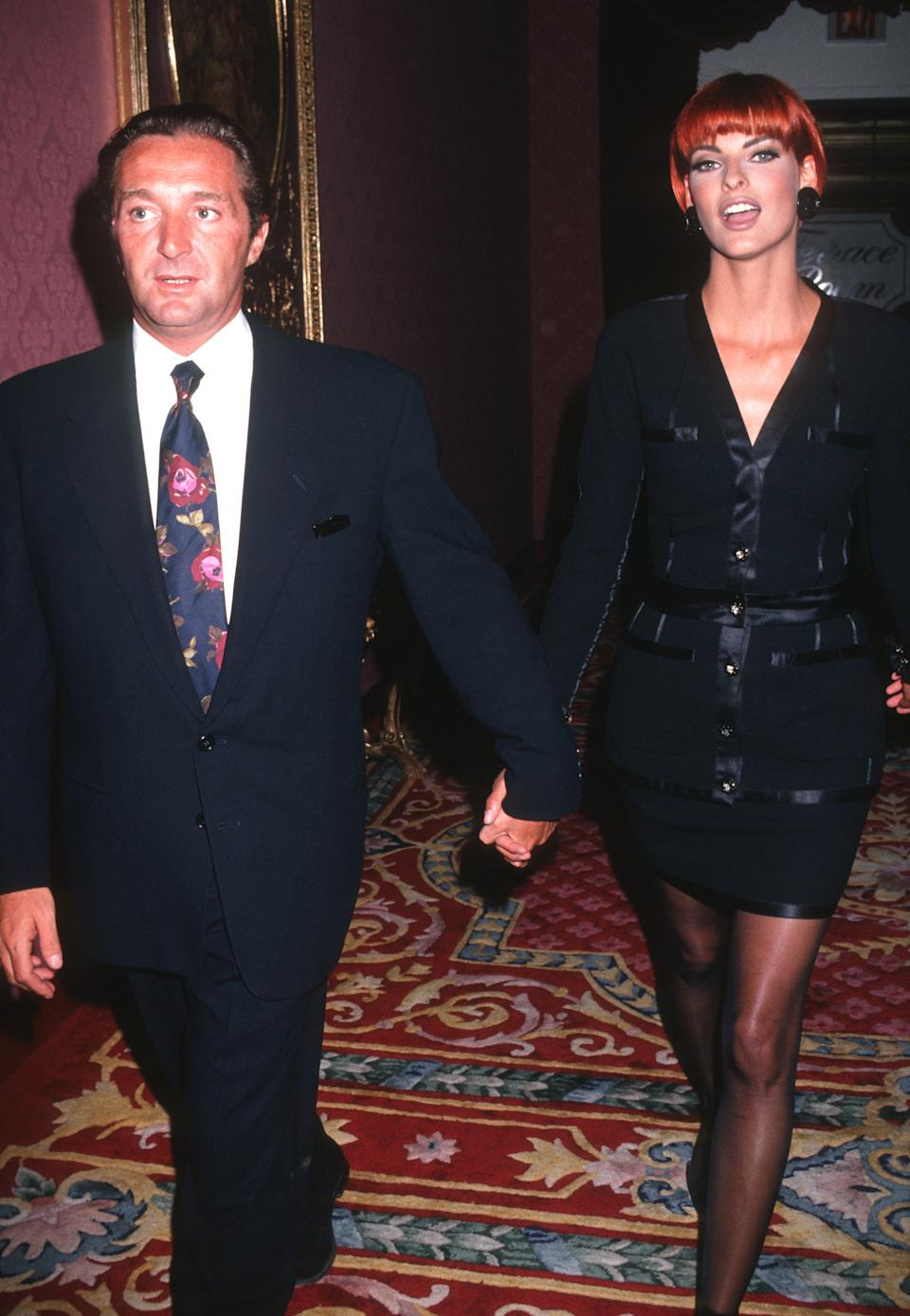 Gerald Marie and Linda Evangelista (Photo by Ron Galella, Ltd./Ron Galella Collection via Getty Images)