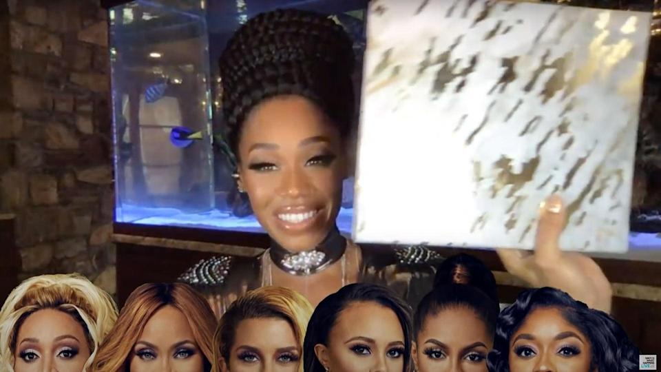 """<p>The <a href=""""https://people.com/tv/monique-samuels-speaks-out-after-fight-with-candiace-dillard/"""" rel=""""nofollow noopener"""" target=""""_blank"""" data-ylk=""""slk:drama between Monique Samuels and Candiace Dillard"""" class=""""link rapid-noclick-resp"""">drama between Monique Samuels and Candiace Dillard</a> has been explosive throughout season 5 of <em>RHOP</em>, following their unfortunate <a href=""""https://people.com/tv/candiace-dillard-wants-monique-samuels-in-jail-for-fight-rhop/"""" rel=""""nofollow noopener"""" target=""""_blank"""" data-ylk=""""slk:physical alternation"""" class=""""link rapid-noclick-resp"""">physical alternation</a> during a wine tasting. Things turned for the worse when they <a href=""""https://people.com/tv/rhop-monique-samuels-charged-with-second-degree-assault-candiace-dillard/"""" rel=""""nofollow noopener"""" target=""""_blank"""" data-ylk=""""slk:both lawyered up"""" class=""""link rapid-noclick-resp"""">both lawyered up</a> ahead of the reunion.</p> <p>The rest of the Potomac ladies took their respective sides on the matter, raw video footage was shown and in case that wasn't enough, <a href=""""https://people.com/tv/monique-samuels-brought-color-coded-binder-receipts-to-rhop-reunion/"""" rel=""""nofollow noopener"""" target=""""_blank"""" data-ylk=""""slk:Monique brought a color-coded binder"""" class=""""link rapid-noclick-resp"""">Monique brought a color-coded binder</a> filled with information on each of the women. Yes, each of the <em>RHOP</em> ladies had their own tabs, including Monique herself. </p> <p>""""<a href=""""https://people.com/tv/first-look-at-three-part-real-housewives-of-potomac-reunion/"""" rel=""""nofollow noopener"""" target=""""_blank"""" data-ylk=""""slk:The thirst book"""" class=""""link rapid-noclick-resp"""">The thirst book</a>,"""" as Candiace called it, will definitely make its way into the Housewives Hall of Fame.</p>"""