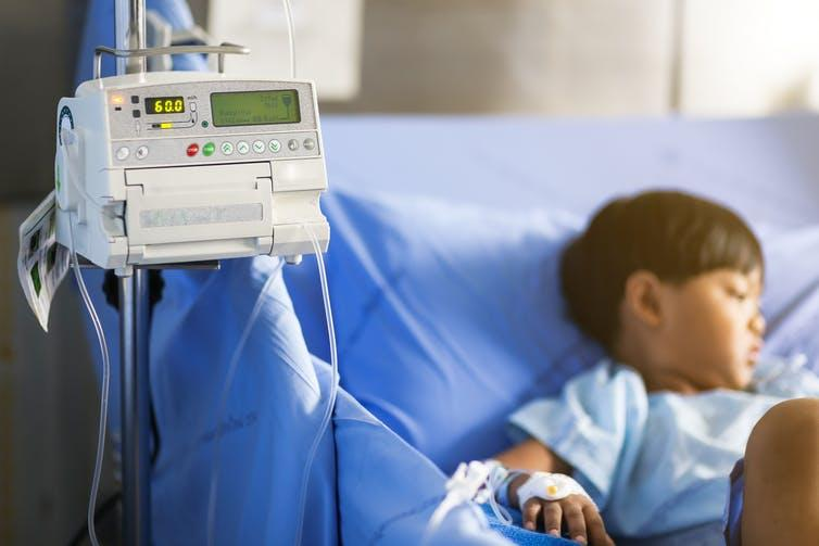 """<span class=""""caption"""">Antibiotic resistance threatens our ability to treat serious infections.</span> <span class=""""attribution""""><a class=""""link rapid-noclick-resp"""" href=""""https://www.shutterstock.com/image-photo/close-adjust-infusion-pump-set-iv-1358772878?src=aFpgnaZpAZ0anHbWiyW32w-1-5"""" rel=""""nofollow noopener"""" target=""""_blank"""" data-ylk=""""slk:Titikul B/Shutterstock"""">Titikul B/Shutterstock</a></span>"""