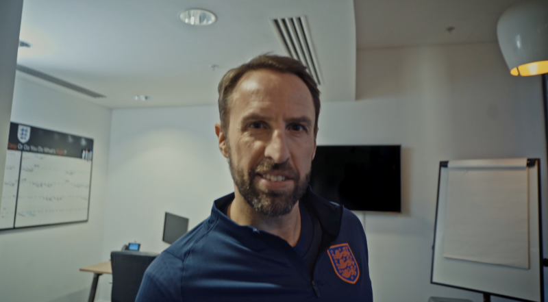 England manager Gareth Southgate features in the video.