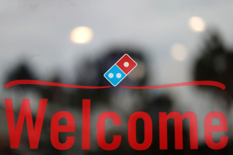A Domino's Pizza restaurant is seen in Los Angeles