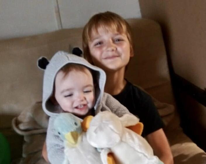 Weylyn Guerriero and his sister Sienna. (Courtesy of Guerriero family)