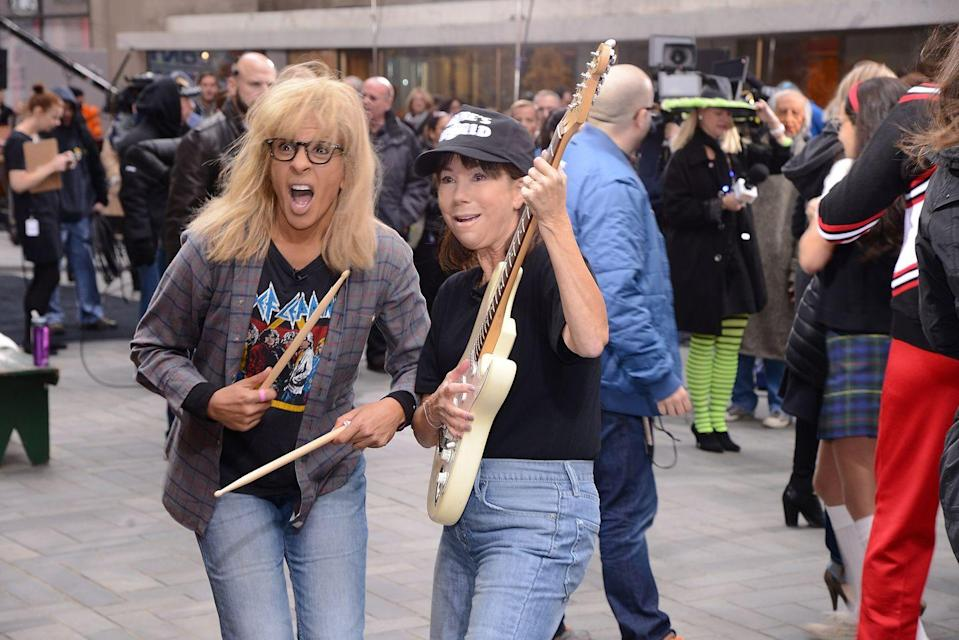 <p>This year, <em>Today</em> went off script and dressed up as some of the funniest comedic sketch characters from NBC's <em>Saturday Night Live</em>. One of the biggest transformations? Hoda Kotb and Kathie Lee Gifford wearing full-on grunge as Wayne and Garth from <em>Wayne's World</em>. Party on!</p>