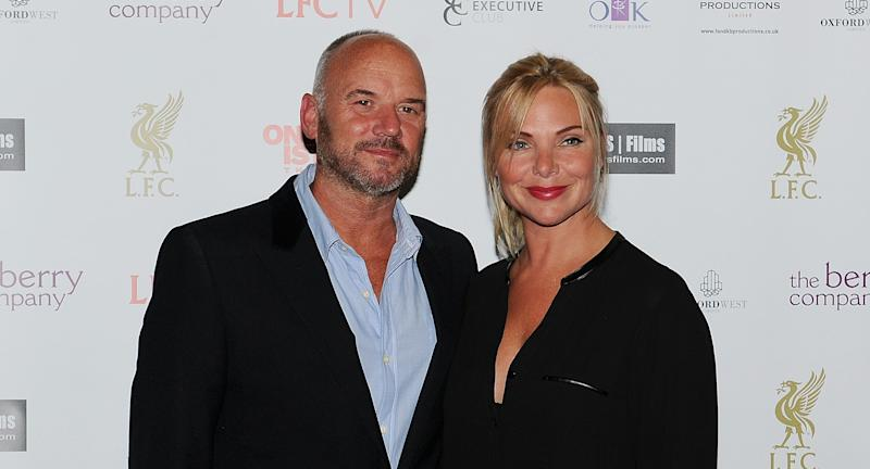 "Samantha Womack and Mark Womack at the World Premiere of ""One Night In Istanbul"" at Odeon cinema in Liverpool One on September 10, 2014 in Liverpool, England. (Photo by John Powell/Liverpool FC via Getty Images)"