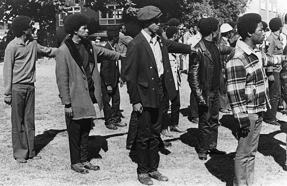 1969 gathering of Black Panther members in Oakland, CA. (Photo: Getty)