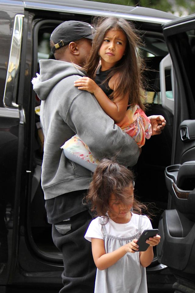 Kanye and North out in Manhattan (Photo: Instarimages)