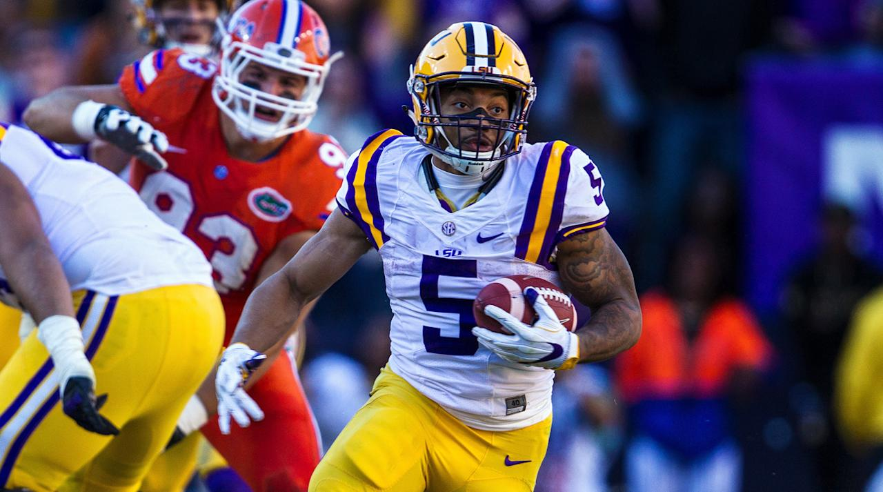 <p>As Leonard Fournette limped through his final season in Baton Rouge, Guice took the reins of the Tigers' offense a year ahead of schedule and punished opposing defenses. New offensive coordinator Matt Canada plans to open up LSU's attack, but Guice remains the team's great equalizer with the vaunted defenses looming in SEC play.</p>