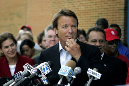 Former presidential candidate John Edwards at a 2008 news conference. (Photo: Bob Child/AP)