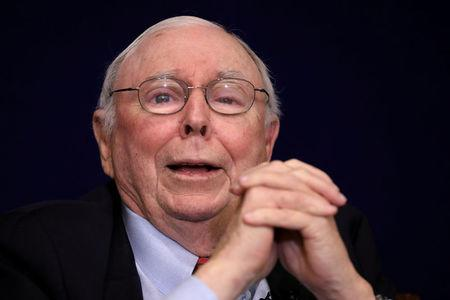 FILE PHOTO: Berkshire Hathaway Inc Vice Chairman Charles Munger speaks at the Daily Journal annual meeting in Los Angeles