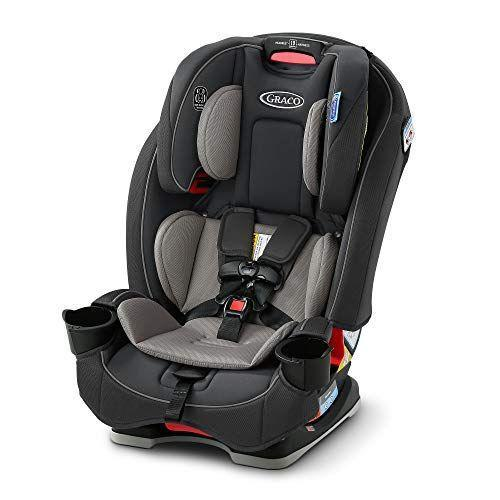 """<p><strong>Graco</strong></p><p>amazon.com</p><p><strong>$387.99</strong></p><p><a href=""""https://www.amazon.com/dp/B08C7DDMZ4?tag=syn-yahoo-20&ascsubtag=%5Bartid%7C10055.g.36283379%5Bsrc%7Cyahoo-us"""" rel=""""nofollow noopener"""" target=""""_blank"""" data-ylk=""""slk:Shop Now"""" class=""""link rapid-noclick-resp"""">Shop Now</a></p><p>An easy-to-install option at a comparatively modest price point, the SlimFit 3-in-1 is meant to take your child from birth all the way through big kid status with convenient features like a 10-position headrest, 4-position recline and no-rethread harness. Unlike other convertible car seats, this model <strong>transforms from rear-facing to forward-facing to booster, giving it a total weight range from 5 to 100 pounds</strong>. Plus, rotating cup holders make this already-slim design even more compact, helping to save space in tight back seats. </p>"""