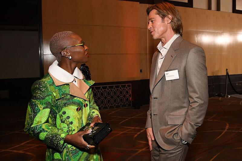 Brad Pitt, Cynthia Erivo | ROBYN BECK / AFP via Getty