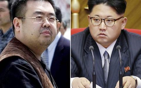 Kim Jong-nam and Kim Jong-un remained estranged as adults - Credit: Shizuo Kambayashi/AP