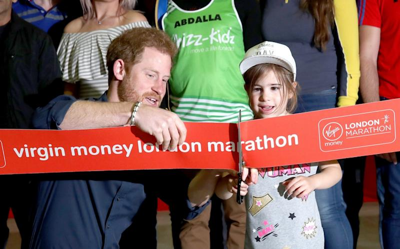 Prince Harry opened the London Marathon - Credit: Getty
