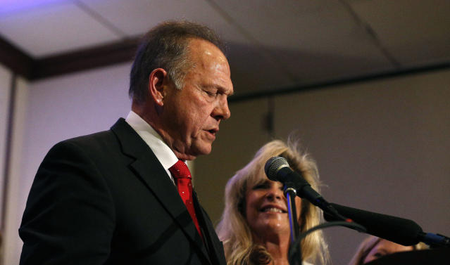 Embattled U.S. Senate candidate Roy Moore speaks at a news conference, Nov. 16, 2017, in Birmingham, Ala. (Photo: Brynn Anderson/AP)