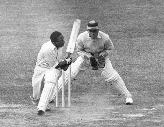 West Indian cricket player Learie Constantine in action batting. Original Publication: People Disc - HC0559 (Photo by Central Press/Getty Images)