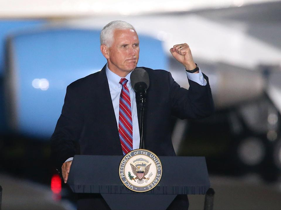 Mike Pence has tested negative after his chief of staff tested positive for Covid-19 on Saturday (AP)