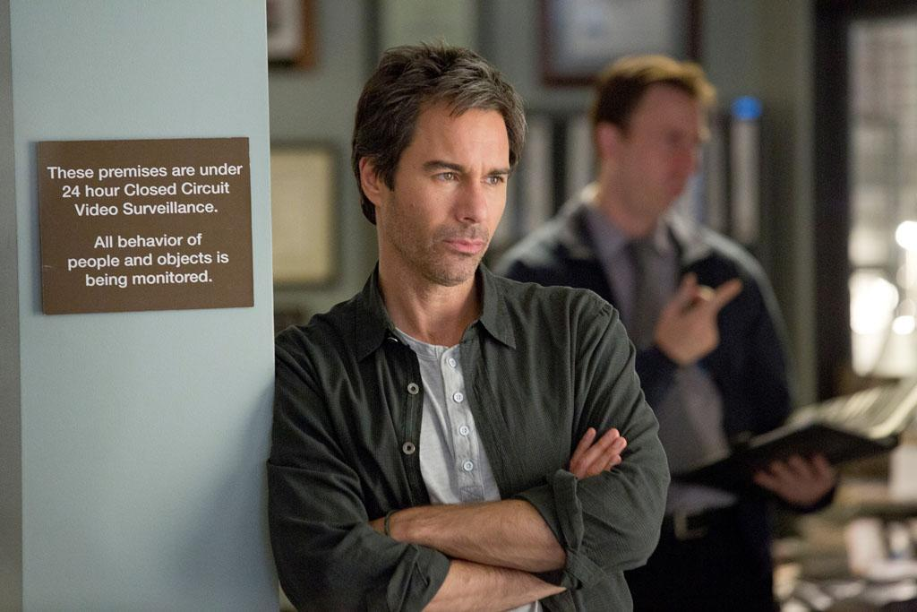 "Eric McCormack in the ""Perception"" episode, ""Blindness."""