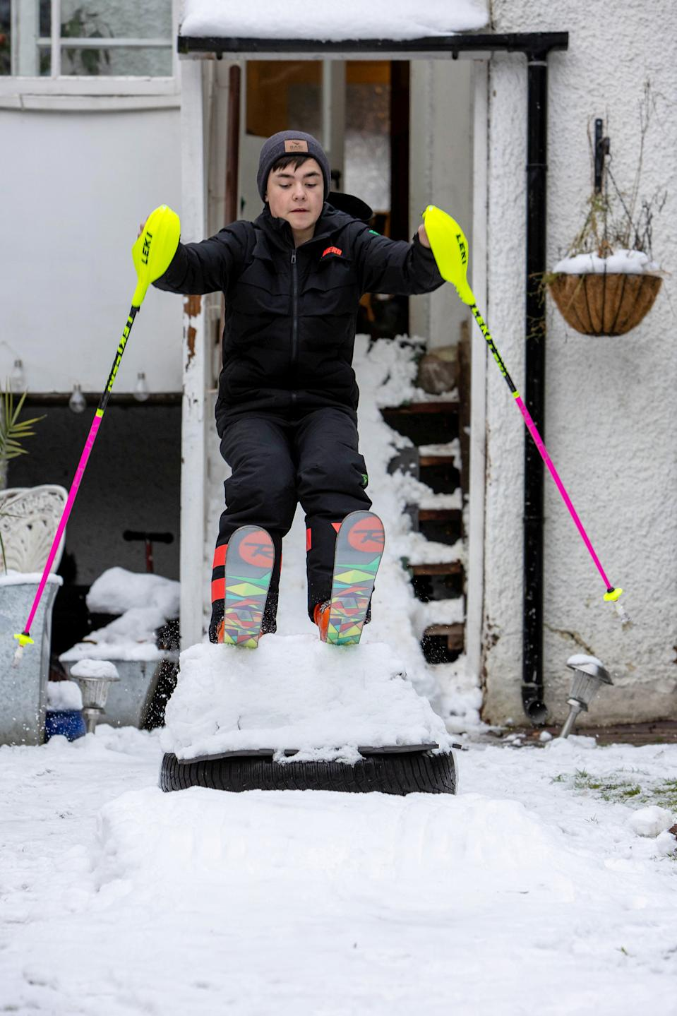 George switched from gymnastics to skiing. (SWNS)