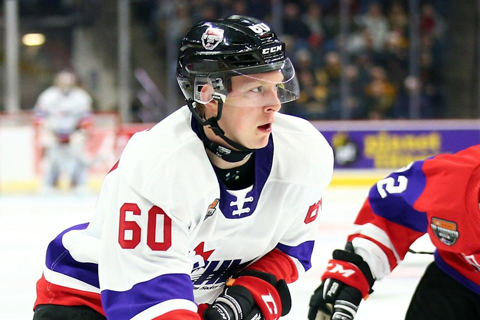 Luke Prokop in action during the 2020 CHL/NHL Top Prospects Game (Getty Images)