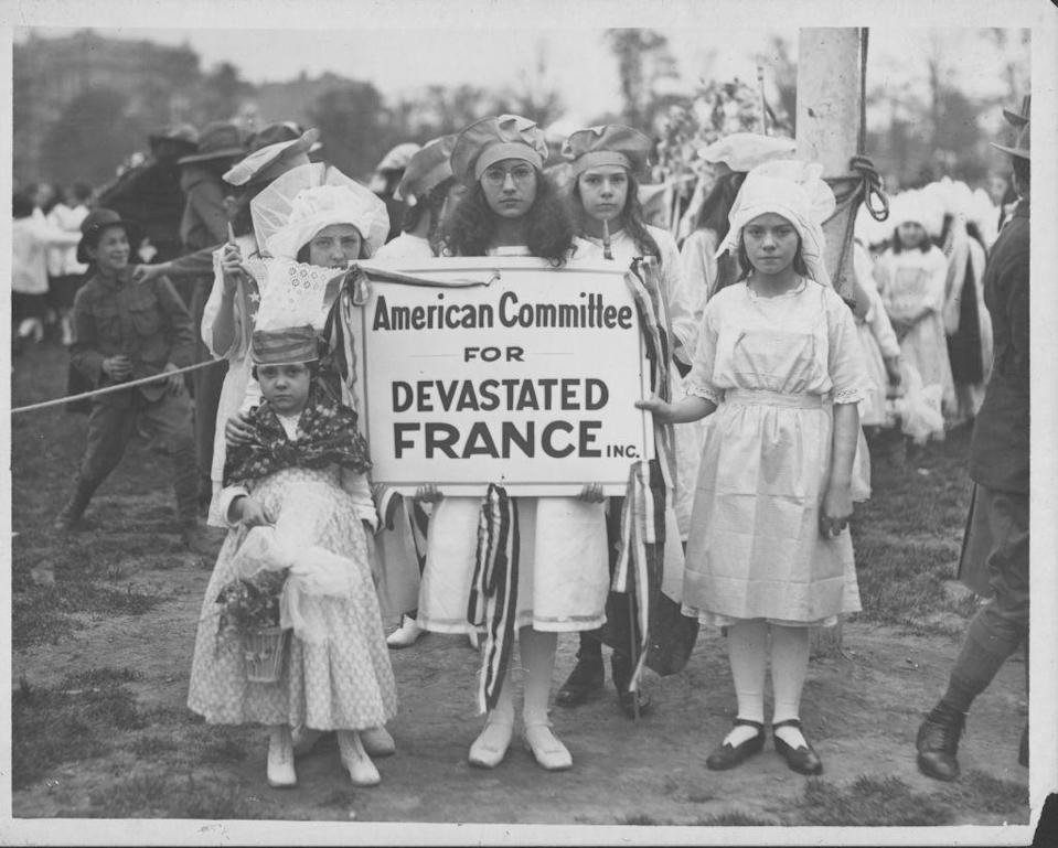<p>Children attend a fundraiser in Central Park to raise money for the people left devastated in occupied France during World War I.</p>