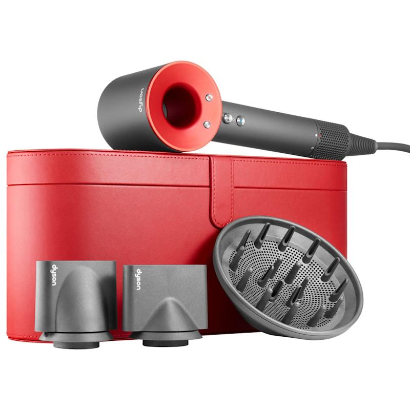Dyson Supersonic Hairdryer in Iron/Red with Red Presentation Case