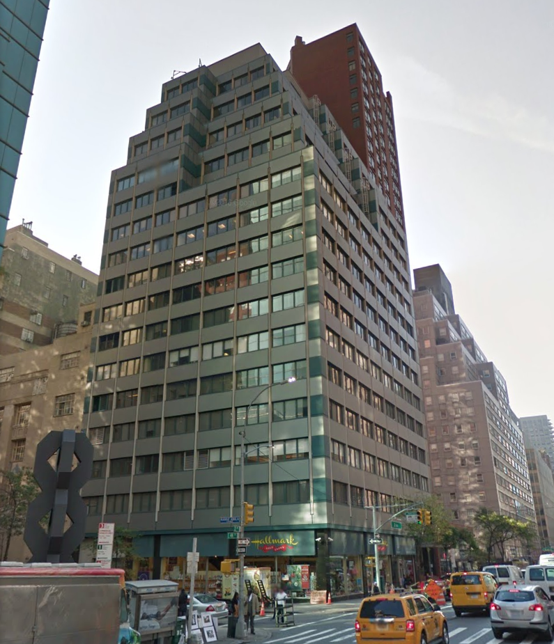 The Manhattan office building that hosts North Korea's Mission to the United Nations. (Google Maps)