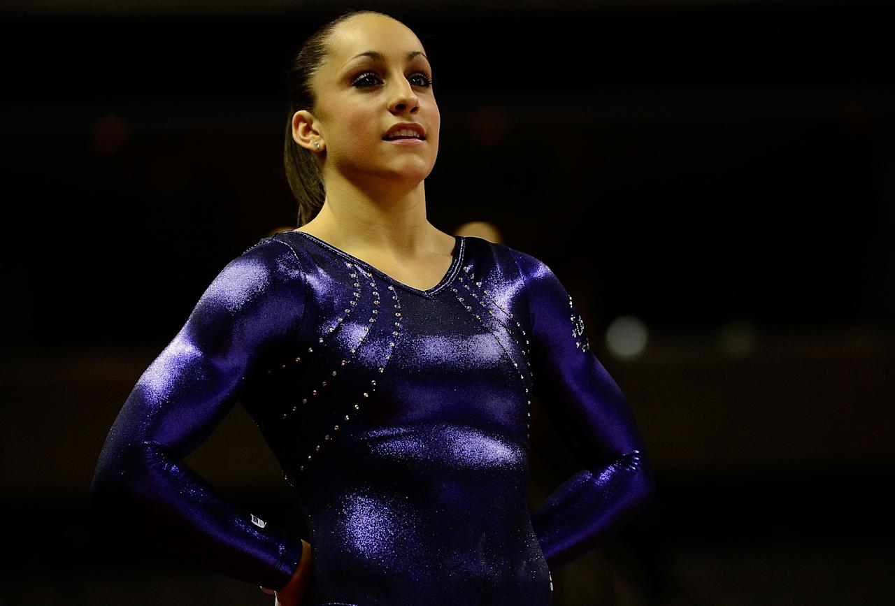 SAN JOSE, CA - JULY 01:  Jordyn Wieber during practice before the start of day 4 of the 2012 U.S. Olympic Gymnastics Team Trials at HP Pavilion on July 1, 2012 in San Jose, California.  (Photo by Ronald Martinez/Getty Images)