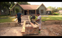 """<p>Sure, <em>Fixer Upper</em> operates on a reality TV schedule, but flipping a house is still a massive undertaking. The renovation can <a href=""""https://www.apartmenttherapy.com/hgtv-fixer-upper-home-improvement-show-secrets-257251"""" rel=""""nofollow noopener"""" target=""""_blank"""" data-ylk=""""slk:take up to six weeks"""" class=""""link rapid-noclick-resp"""">take up to six weeks</a> to complete, which is considered speedy for a standard contractor.</p>"""