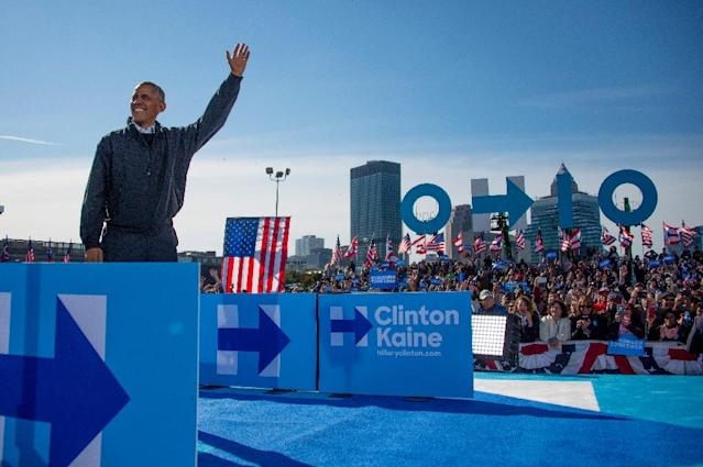 US President Barack Obama warned that America's very democracy is at stake in the November 8 presidential election because of the Republican nominee (AFP Photo/Jim Watson)