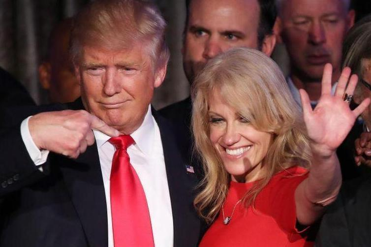 Former US president Donald Trump and Kellyanne Conway (file picture)Getty Images