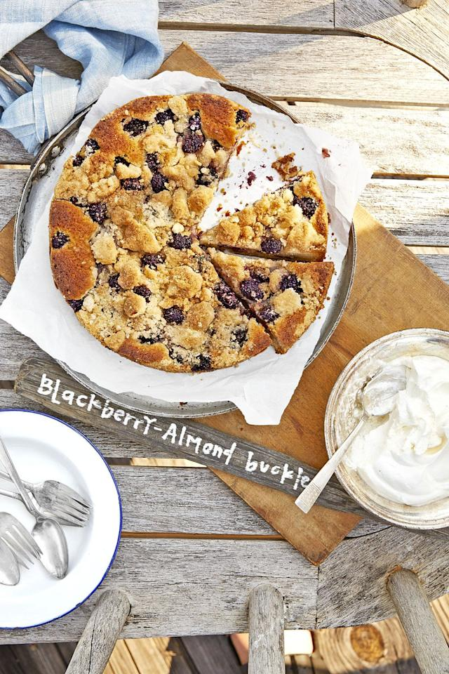 "<p>Serve this streusel-topped buckle with crème fraîche for an elegant dessert.</p><p><strong><a rel=""nofollow"" href=""https://www.countryliving.com/food-drinks/recipes/a43559/blackberry-almond-buckle-recipe/"">Get the recipe.</a></strong></p><p><strong>Tools you'll need:</strong> electric hand mixer ($22, <a rel=""nofollow"" href=""https://www.amazon.com/BLACK-DECKER-6-Speed-Attachments-MX3200B/dp/B00BIBBIH4"">amazon.com</a>)</p>"