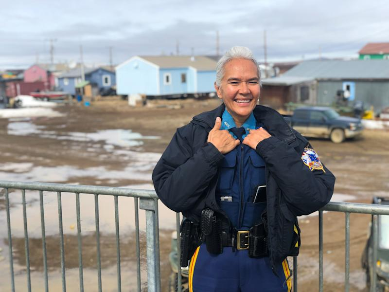 Alaska -Buckland, Alaska - Anne Sears is an Alaska State Trooper based in Kotzebue, Alaska, a remote town in northwest Alaska. Sears works with four other troopers in the Kotzebue hub, servicing nine surrounding Native Alaska villages. They cover an area roughly the size of Ohio. [Via MerlinFTP Drop]