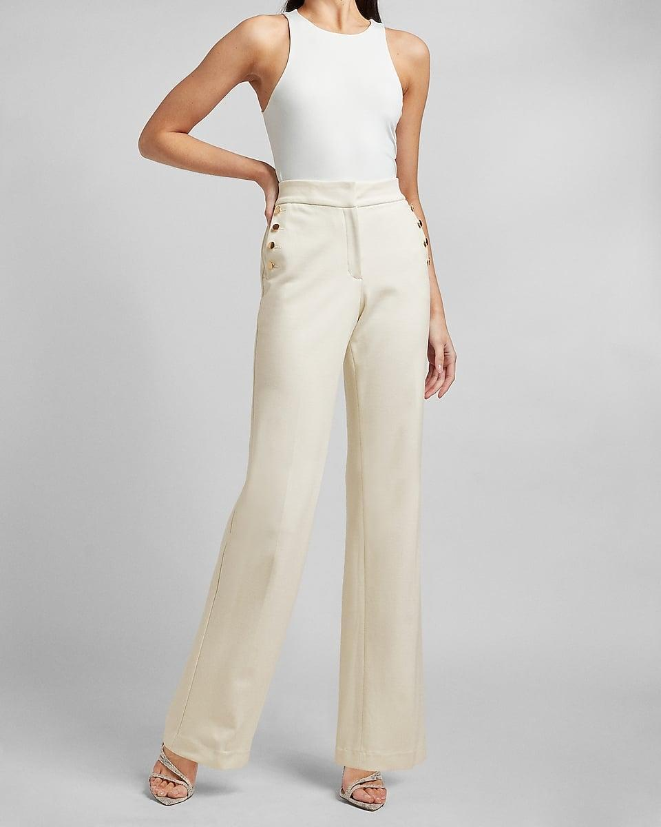 <p>Who doesn't love a formfitting pair of <span>High Waisted Sailor Button Trouser Pants</span> ($66, originally $88)?</p>