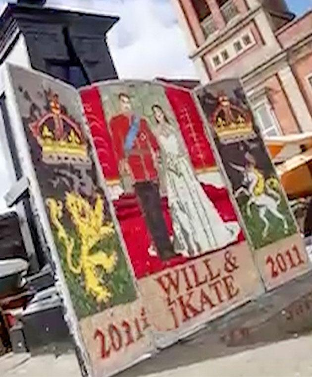 The council has a history of bizarre royal murals. Photo: Caters