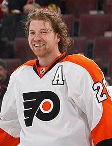 The Flyers' Claude Giroux has had plenty to smile about this season