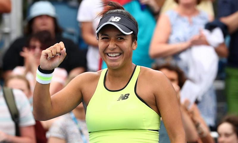 Heather Watson beat Krystyna Pliskova in the first round.