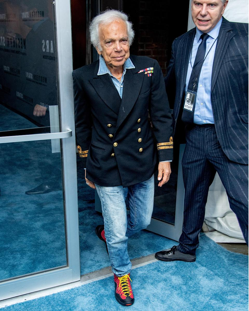 """<h1 class=""""title"""">October 17: Ralph Lauren</h1> <div class=""""caption""""> Hiking boots and naval motifs all in a single #BigFitoftheDay? Ralph Lauren still knows how to freak it with the classics. </div> <cite class=""""credit"""">Getty Images</cite>"""