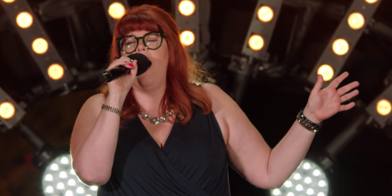 Jenny Ryan delivered a powerful performance at her audition. (ITV)