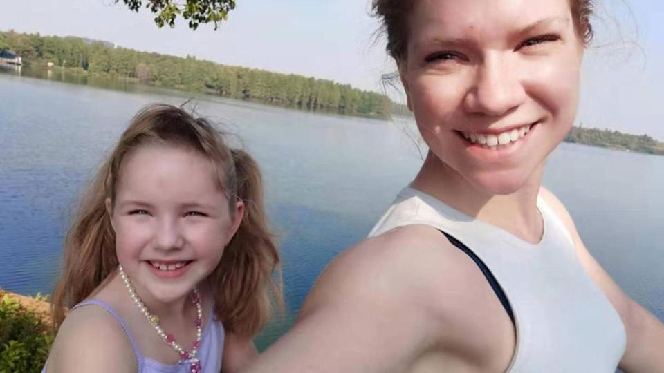 Americans Priscilla Dickey and her daughter Hermione are stranded in Wuhan, China, after a passport issue prevented them from evacuating. (Photo: Priscilla Dickey)