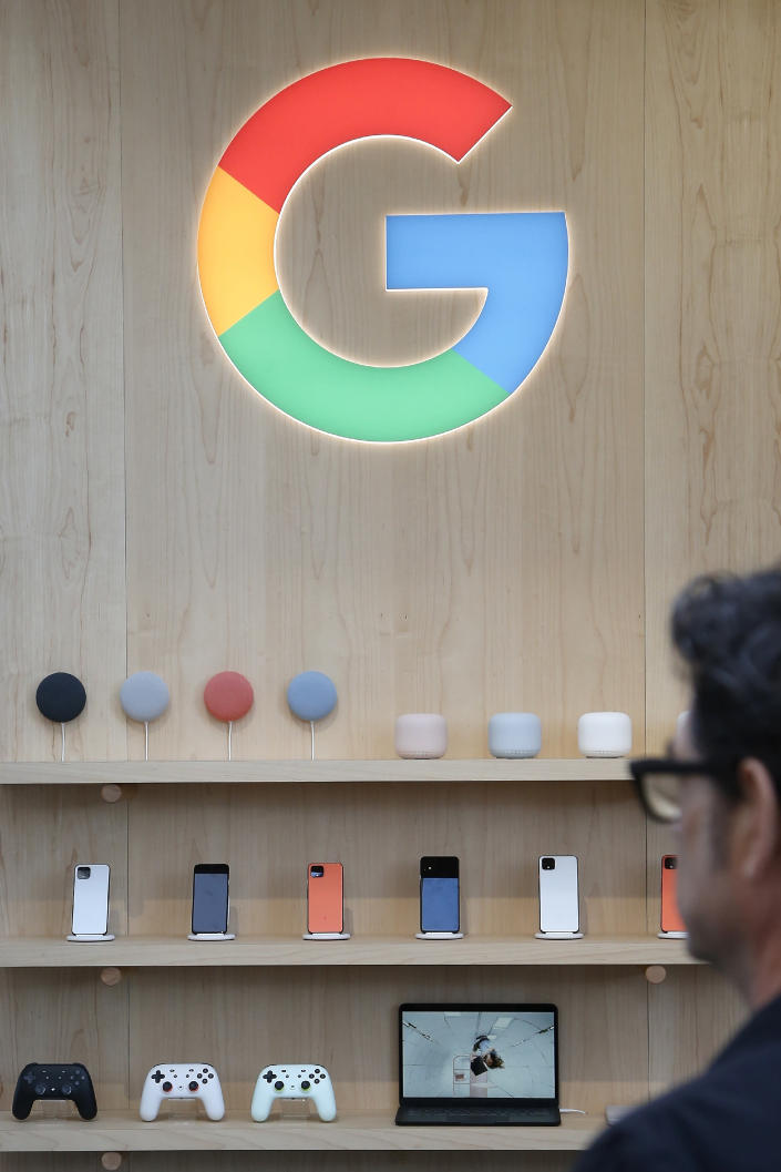FILE - In this Jan. 8, 2020, file photo, the Google exhibit building offers a multitude of products offering the Google Assistant during the CES tech show in Las Vegas. Google broke Australian law by misleading users about personal location data collected through Android mobile devices, a judge found Friday, April 16, 2021. (AP Photo/Ross D. Franklin, File)