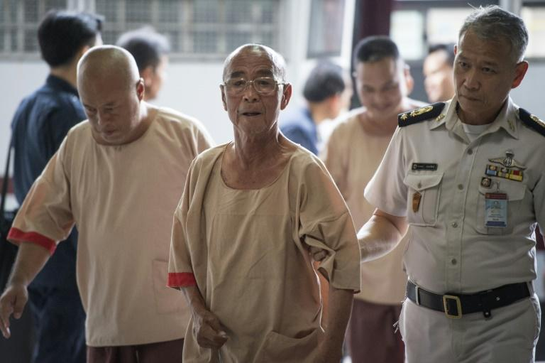 Laota Seanlee arrives at a court in Bangkok ahead of his sentencing