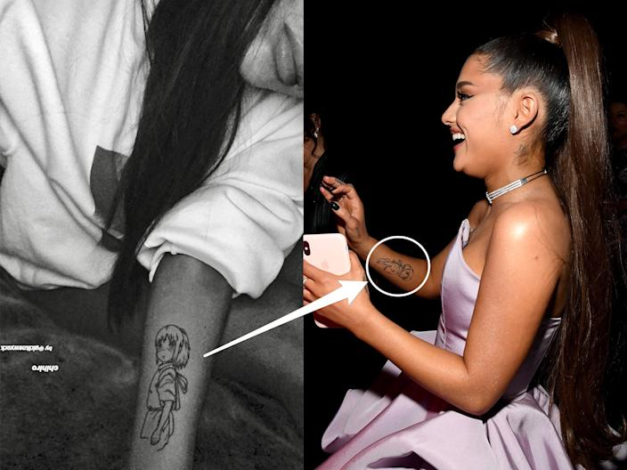 Grande revealed her biggest tattoo yet on August 29, 2018 via Instagram story.