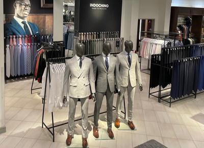 INDOCHINO is opening 21 shop in shops in Nordstrom locations nationwide, offering a convenient way for customers to get exceptional fitting, personalized suiting, shirts and outerwear at a compelling price point. Pictured: INDOCHINO Shop at Nordstrom Towson Town Center. (CNW Group/Indochino Apparel Inc.)