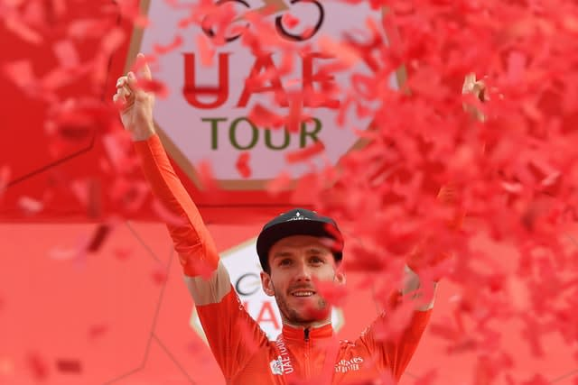Adam Yates had been in the race lead before the cancellation of the UAE Tour (Massimo Paolone/AP)