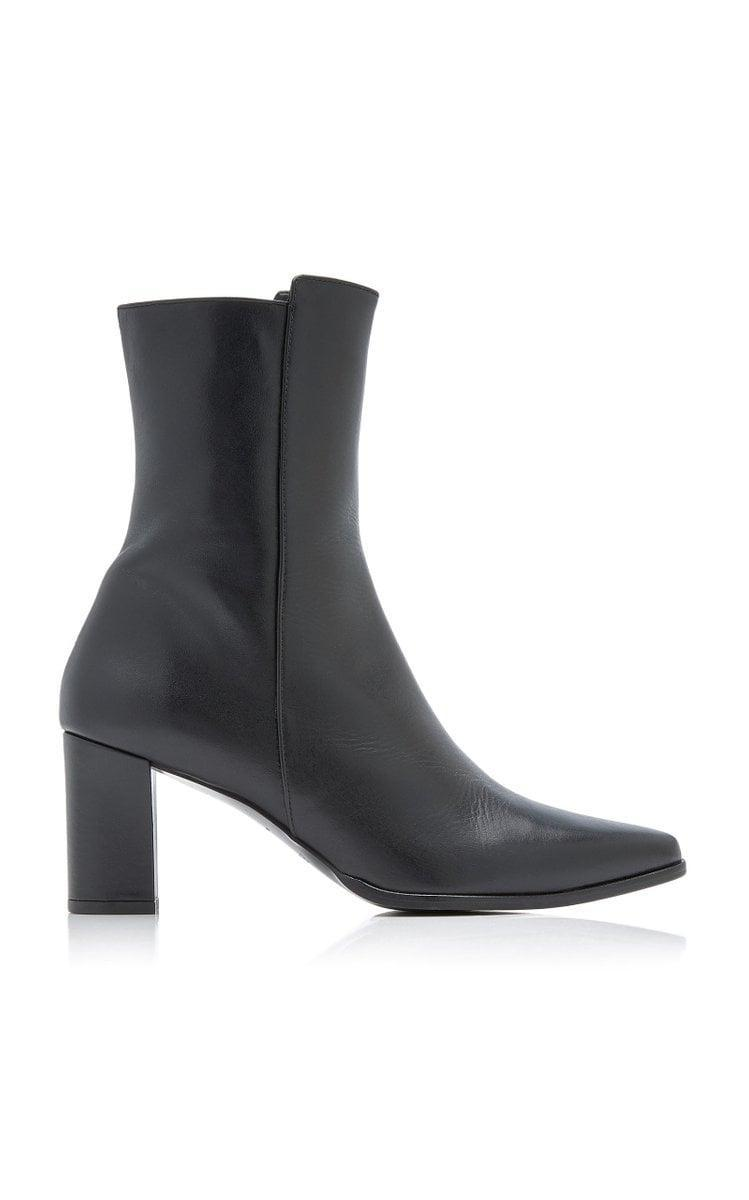 <p>These <span>Flattered Teddie Leather Ankle Boots</span> ($240) are seasonless; they'll always be in style.</p>