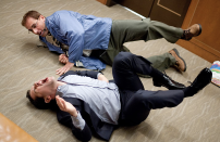 """<p><em>Dinner for Schmucks</em> marked the third collaboration between Paul Rudd and Steve Carrell, and Zach Galifianakis also had a memorable appearance in the film. Rudd plays Tim, a rising executive who finds the perfect guest, (Carell's Barry), for his boss's """"dinner for idiots."""" Hijinks ensue, as you can imagine.</p><p><a class=""""link rapid-noclick-resp"""" href=""""https://www.netflix.com/title/70128701"""" rel=""""nofollow noopener"""" target=""""_blank"""" data-ylk=""""slk:Stream it here"""">Stream it here</a></p>"""