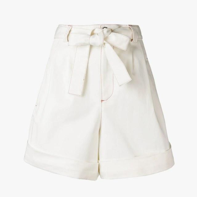 See By Chloé high-waisted shorts, was $220, now $154, farfetch.com 30% off