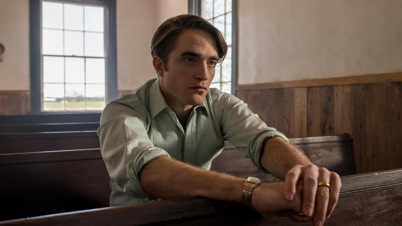 Robert Pattinson as Preston Teagardin in 'The Devil All the Time'. (Credit: Glen Wilson/Netflix)